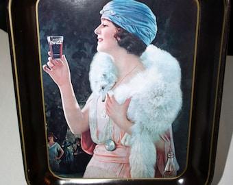 1925 Coca-Cola Party Girl Tray//Advertising Tray//Vintage Coca Cola Serving Tray