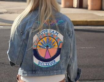 Daydream Believer - Hand Painted Denim Jacket