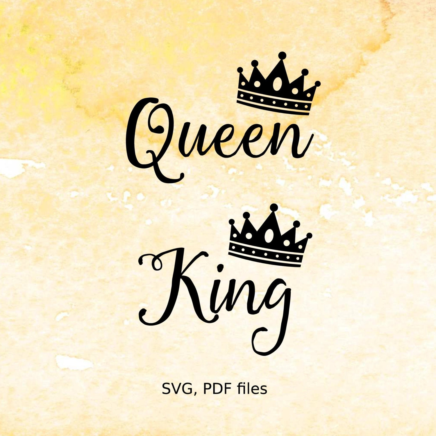 Queen King Svg Files Crown Svg File For Cutting Machines