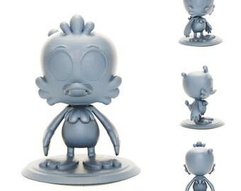 3D Printed 4in Tall Qach Figurine
