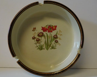 Midcentury Floral Ashtray