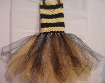 Tutu bodice bee yellow and black, one size fits 2-6 years