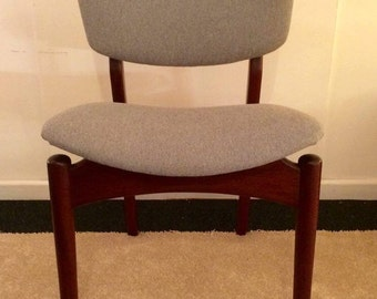 6 Teak Dalescraft Mid-Century 'Floating Seat' Dining Chairs