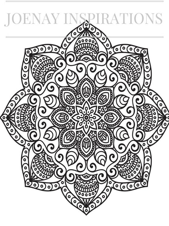 Adult Coloring Book, Printable Coloring Pages, Coloring Pages, Coloring Book for Adults, Instant Download Magnificent Mandalas 2 page 9