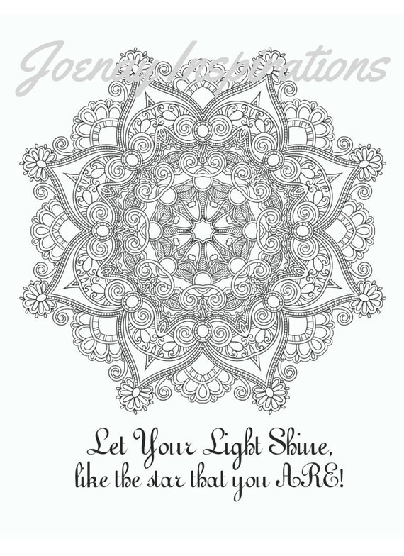 Adult Coloring Book Printable Coloring Pages, Coloring Pages, Coloring Book for Adults Instant Download Inspiration and Affirmation 2 page14