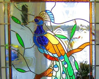 Stained glass Peacock stained glass