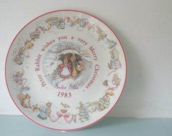 Peter Rabbit Merry Christmas 1983 plate