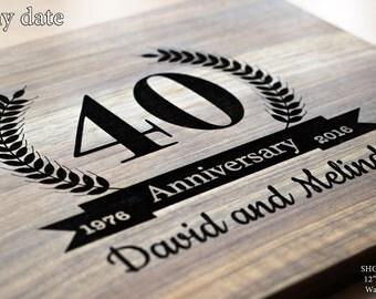 Cutting Board Anniversary gift 50th Anniversary gift 55th Anniversary gift 40th Anniversary gift 65th Anniversary gift Bridesmaid gift