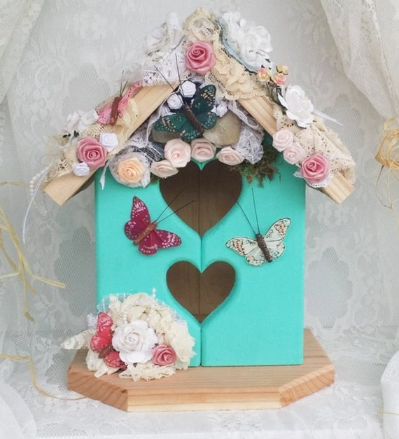 Victorian Shabby Chic Birdhouse For Mom By Apronstringsowllady