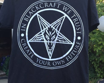 """BLACKCRAFT """"In BlackCraft We Trust"""" T-Shirt Create Your Own Future"""