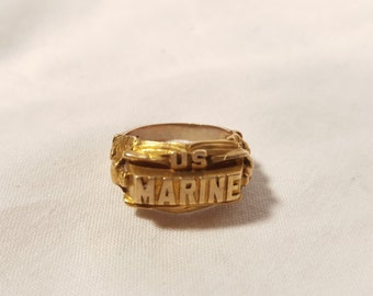 10K Gold US Marine ring
