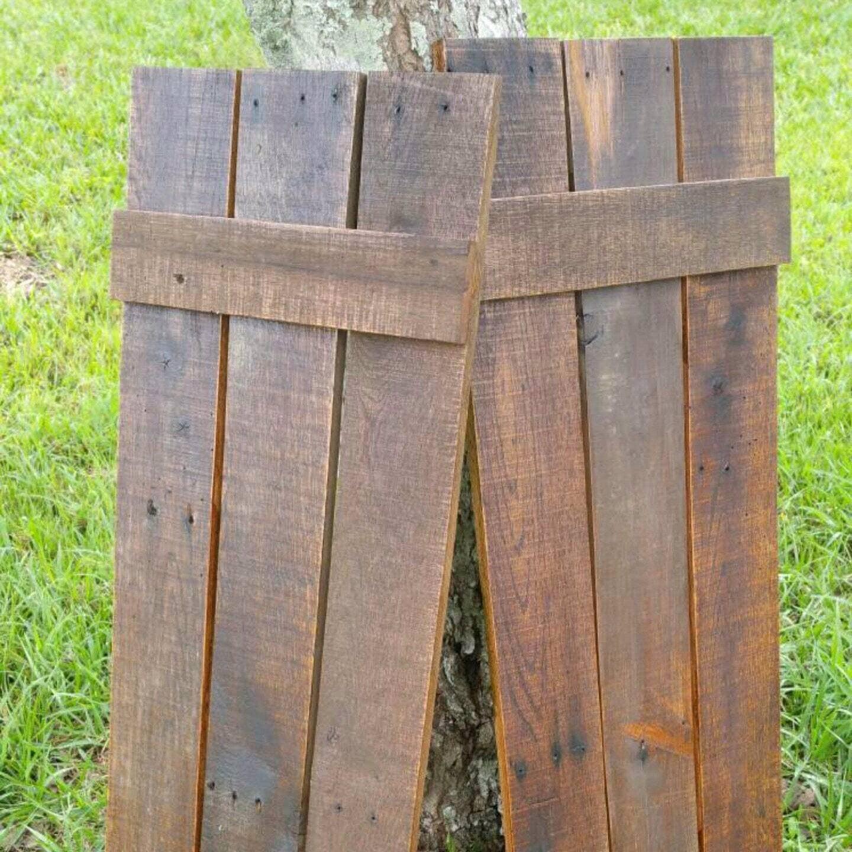 Wood Shutters Rustic Board And Batten