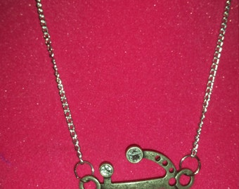 Large Silver Anchor Neacklace