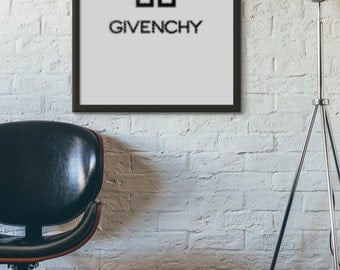 Givenchy Print, Givenchy, Typography Prints, Typography Art, Printable Art, Digital Print, Printable Wall Art, Wall Prints, Downloadable Art