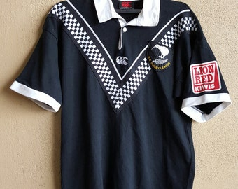 Vtg. Canterbury of New Zealand All Black Rugby Jersey Shirt Size M