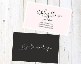 Custom business card design:Pink business card template010