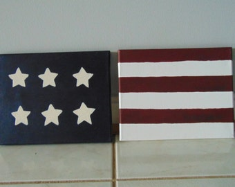 American Flag Acrlic Painting Canvas