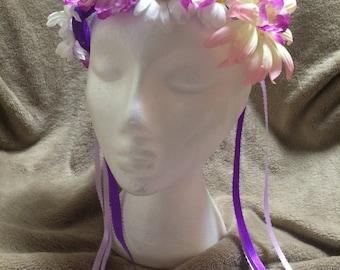 Floral Crown- Wear Two Ways- Purple