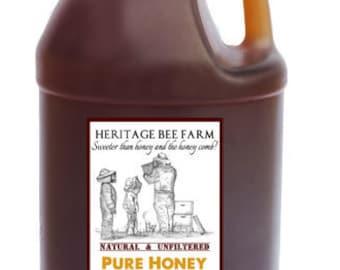 Half Gallon Jug of Pure Raw WildFlower Honey ~ RAW ~ UNFILTERED ~ UNHEATED ~