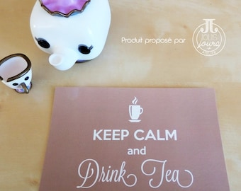 Postcard Keep calm and drink tea