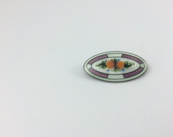 Sterling Enamel Brooch, Orange