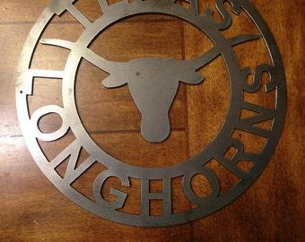 Longhorn Metal Art Etsy