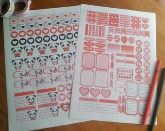 Stickers - Valentine's Day +100 stickers! Glossy or Matte!
