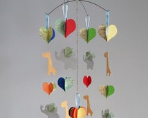 elephant and giraffe mobile Lets Go Safari baby mobile reserved listing for Bethany