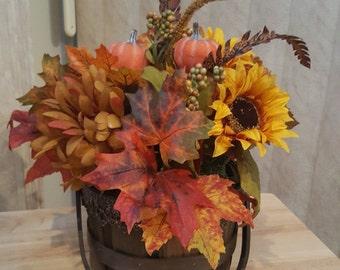 Fall Floral Basket