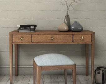 Walnut Mid Century Console Table, Mid Century Console Dresser with Drawers -Ekais BQ Line