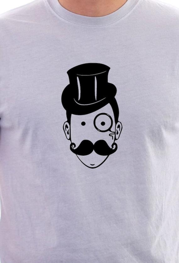 hipster style gentleman print tshirt by littlemonkeycasuals
