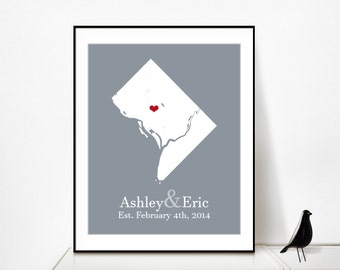 Washington DC Art Washington DC Wall Art Washington DC Print Washington dc Poster Washington dc State Washington dc Sign Personalized Art