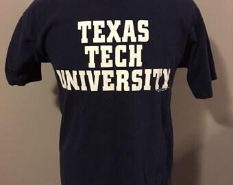Vintage Texas Tech University T-Shirt, Size: Large