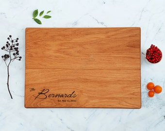 Bridal Cutting Board Engraved Couple Gift For Family Handmade Chef Cutting Board Housewarming Newly Married Last Name Bridesmaid Gift Idea