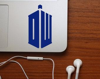 Doctor Who TARDIS Decal - DW Decal, Laptop Sticker, TARDIS, Tardis Vinyl Decal