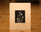 Spring Snowdrops Hand Carved Lino Print Unframed