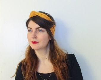 Headband JUSTINE mustard