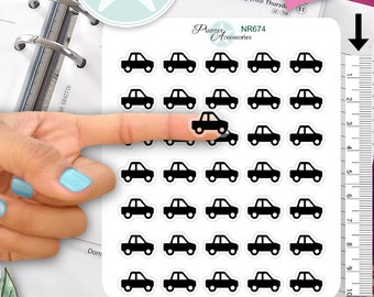 Clear Car Stickers Car Wash Stickers Planner Stickers Erin Condren Functional Stickers Decorative Stickers NR674