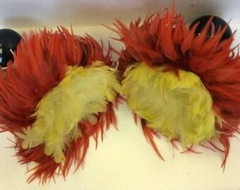 Hawaiian 'Uli'Uli, red and yellow feathers