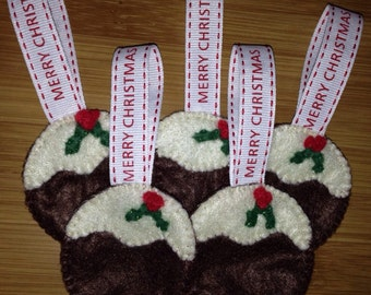 Felt Christmas Pudding Christmas Ornament
