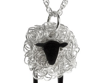 Silver sheep pendant facing front, Sheep Jewellery, Sheep Jewelry, Sheep Pendant, Sheep Gifts, Sheep Present, Welsh Jewellery, Welsh Jewelry