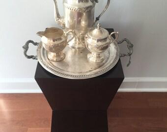 Vintage Silver on Copper Coffee Set