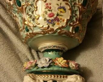 Limoges Pedestal Bowl