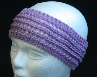 Headband, Ear Warmer, Hairband, Light Headband, Spring Headband - Purple (Lavender)