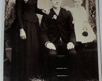 Cabinet Card Photo Victorian Family a Bit of Quirky Victorian Style
