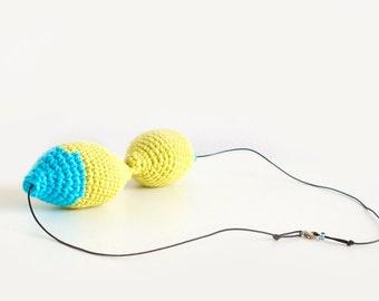 Knit Necklace. Urban Necklace. Crochet Jewelry. Crochet Necklace