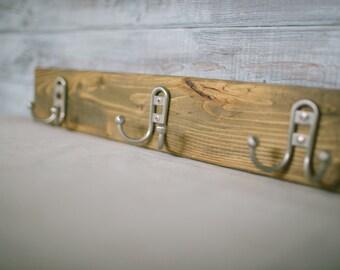Rustic Wood Coat Rack / Coat Rack / Towel Rack