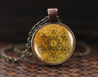 Metatron's Cube pedant, Metatron's Cube necklace, Metatron's Cube jewelry, Sacred geometry necklace, Geometric necklace, men's necklace