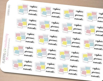 Camera Ver3 Planner Accessories Planner Stickers Perfect for Erin Condren, Kikki K, Filofax and all other Planners