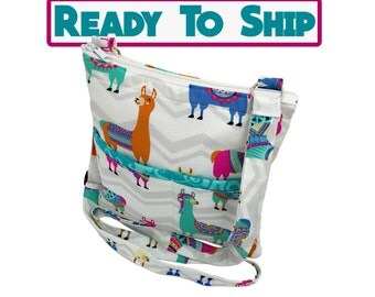 Llama Crossbody Bag // Sling Bag // Crossbody Purse // Shoulder Bag // Hipster // Ready to Ship